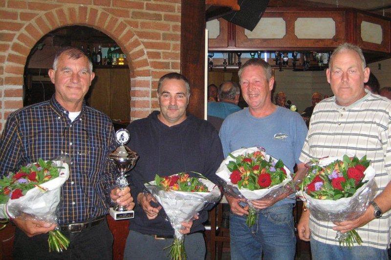 Sjaak van der Bliek, Anton Klaver, Andre van Kleef en Dirk Swart